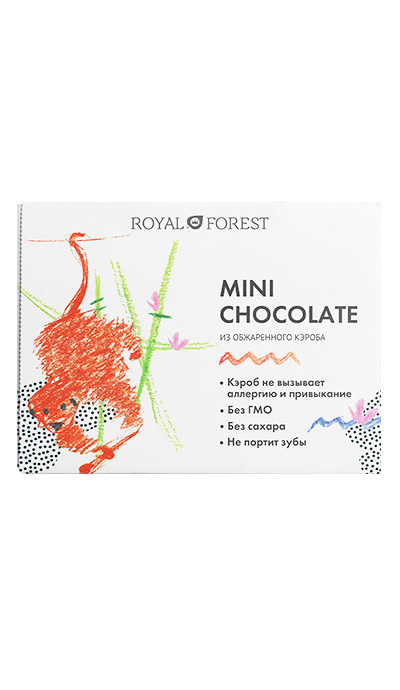 картинка Шоколад  Mini Chocolate из обжаренного кэроба, 30 гр